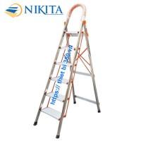 Thang INOX tay vịn 6 bậc Nikita NKT-06