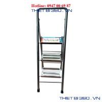 Thang INOX tay cong 3 bậc BM-03