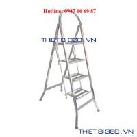 Thang INOX tay cong 4 bậc BM-04