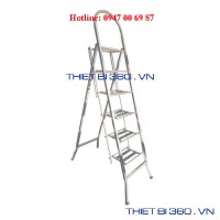 Thang INOX tay cong 6 bậc BM-06