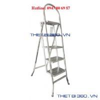 Thang INOX tay cong bậc liền Bl-04