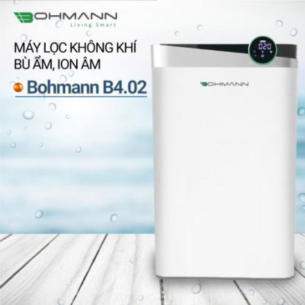 Máy lọc không khí khử mùi, bù ẩm, diệt khuẩn tạo ion âm Bohmann B4.02 (55m2)