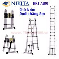 Thang nhôm rút đôi Nikita NKT-AI80